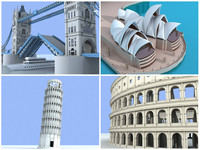 collection of 4 famous structures