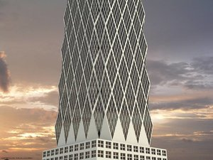 hearst tower building 3d max