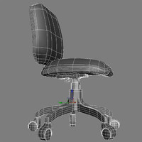 3d model standard office chair