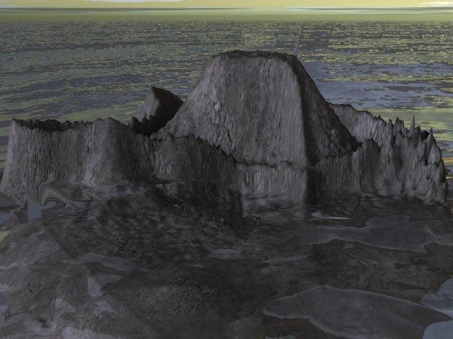 3d model ocean island