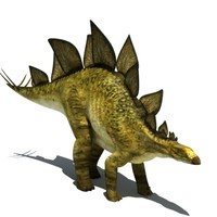rigged stegosaur 3d model