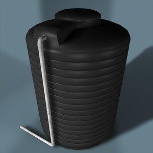600 gallon water tank 3d c4d