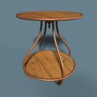 3d table curvy model