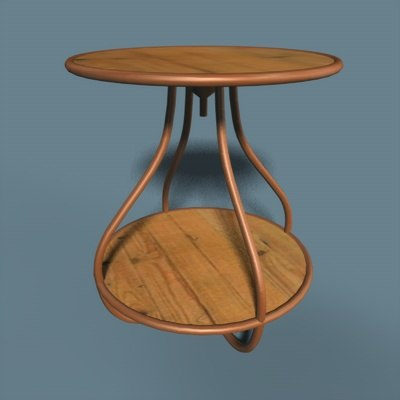 3d table curvy model