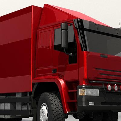 semi truck vehicle 3d 3ds