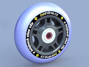 3ds max inline wheel