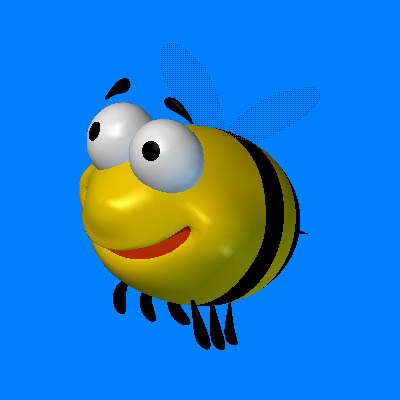 cartoon bee 3d lwo