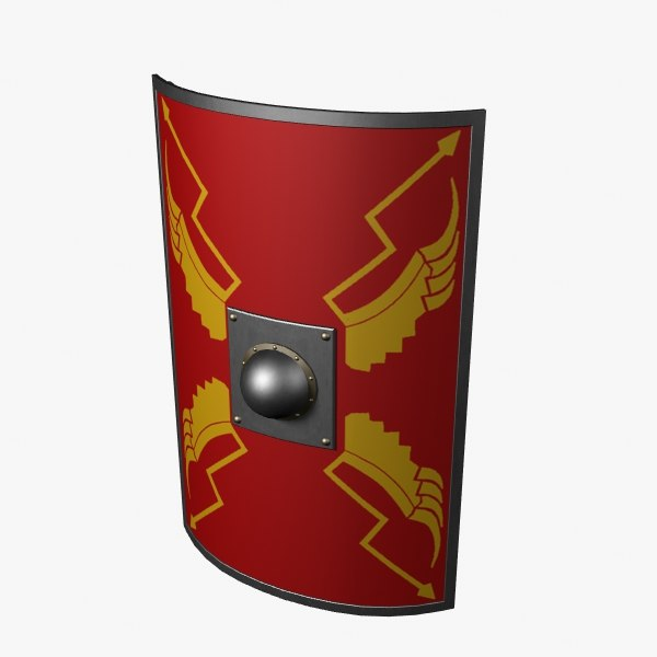 3d roman legionary shield