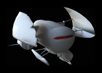 flying machine 3d model