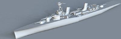 soviet light cruiser 3d model