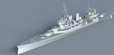 3d renown battlecruiser battle model