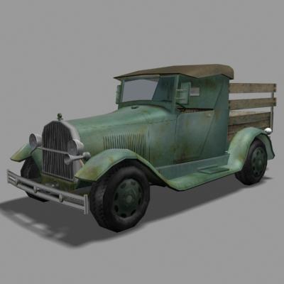 old truck 3d model