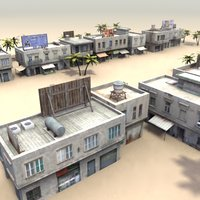 shop buildings 3d 3ds
