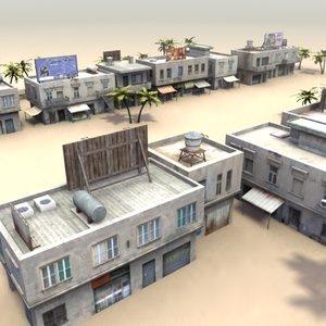 shop buildings 3d 3ds