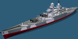 3d ww2 battleship