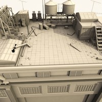 3d model definition building roof scene