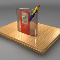 3d calendar clock model