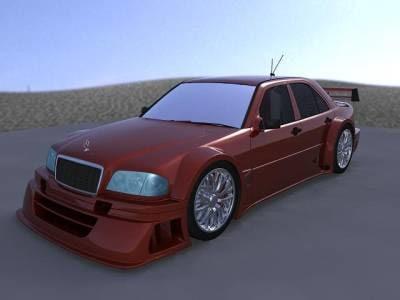 3d model mercedes c class dtm