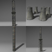 chimneys 3d obj