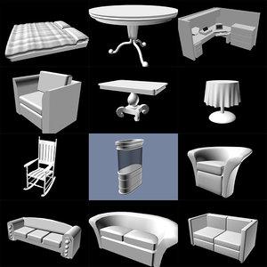 huge furnitures 3d max