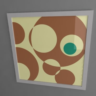 artwork painting frame 3d model