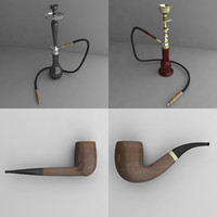 3d model smoking pipes