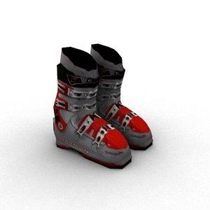 3ds max ski boots