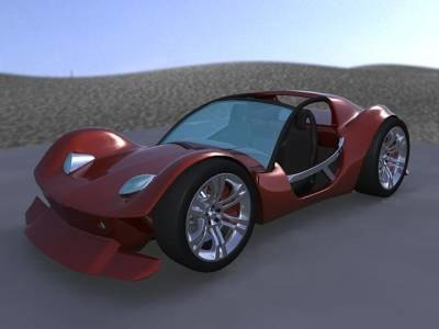 3d buggy concept car