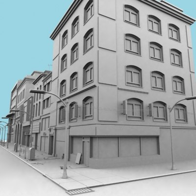 definition town buildings 02 3d max