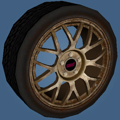 wheel subaru impreza wrx sti 3d model