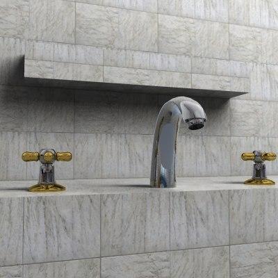 tap modern faucet 3ds