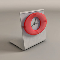 3d clock glass brushed model