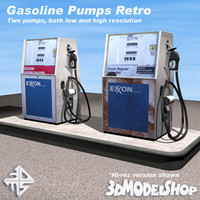 3d model gasoline pump retro