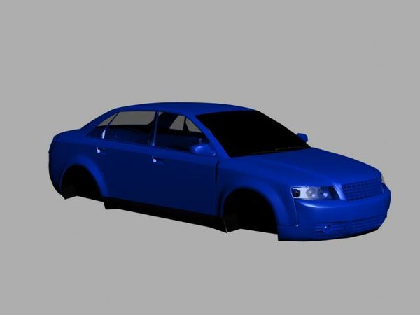 3d car shell model