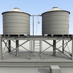 3d definition water tank model