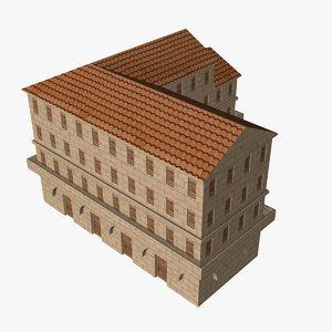 roman insula 3d model