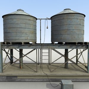 3dsmax definition water tank