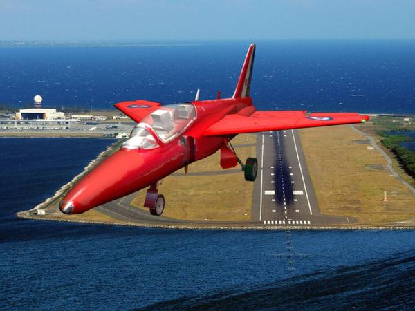 brittish jet trainer gnat 3d model
