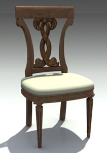 free classical chair model