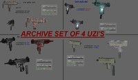 four uzis archive set (.rar)