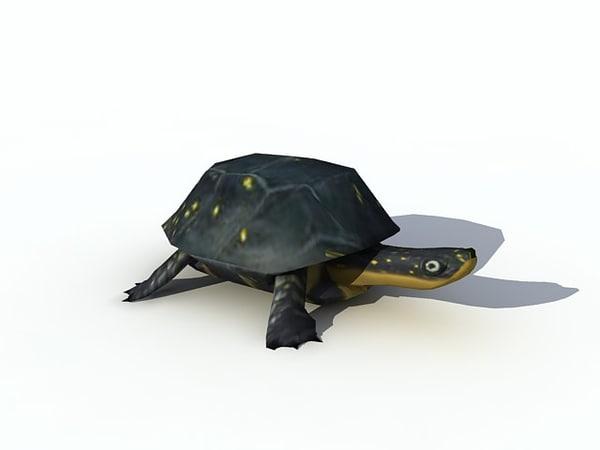 3d turtle yellow