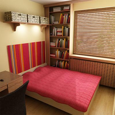 3d interior house room model
