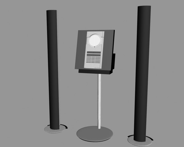 music loudspeakers remote 3d model