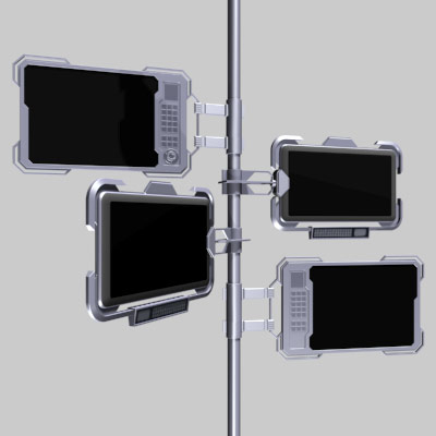 computer video panels 3ds
