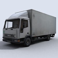 small transport truck 3d model