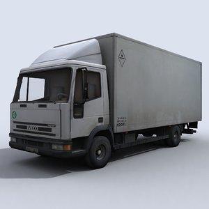 small transport truck 3d model
