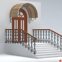 3ds max entrance stairs