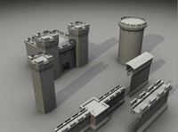 3d structure tower model