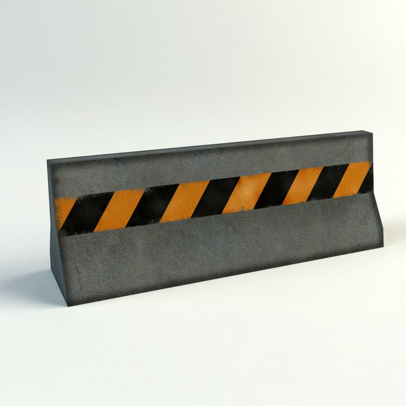 3d model traffic barriers