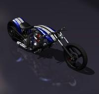 chopper motorcycle 3d lwo